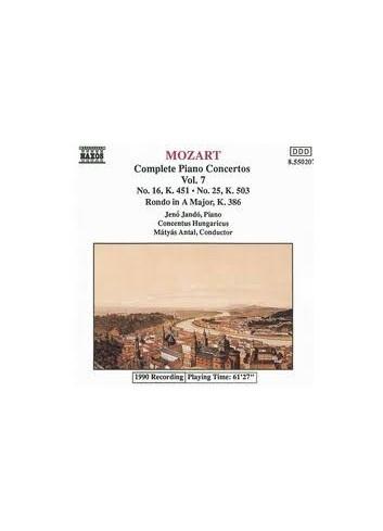 Mozart Complete Piano Concertos Volume  7 - W. A. Mozart
