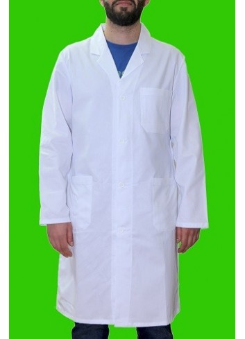 Camice in gabardina di cotone 100% bianco da Uomo