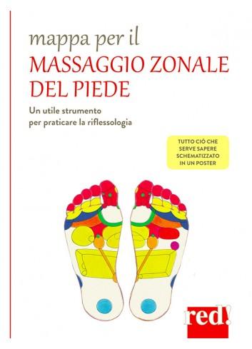 Mappa per il massaggio zonale del piede - poster